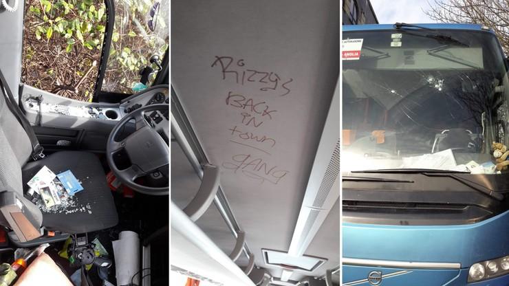Polski autokar zdemolowany w Southampton