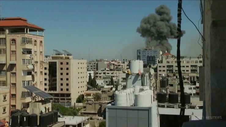 Strefa Gazy. Izraelski ostrzał zniszczył wieżowiec, w którym mieściły się biura AP i Al-Dżaziry