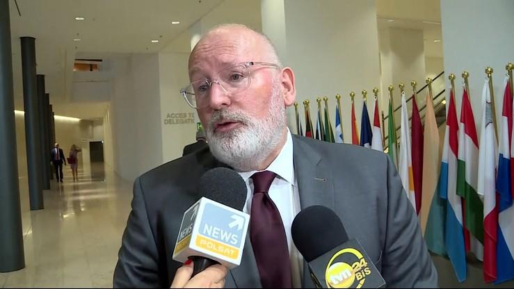 """Timmermans ma """"zielone światło"""" od unijnych komisarzy. Może wszcząć procedury przeciw Polsce"""