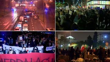 Kobiety znów wyszły na ulice. Manifestacja przed Sejmem [ZAPIS RELACJI]