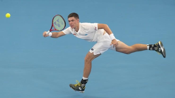 ATP w Melbourne: Kamil Majchrzak zakończył rywalizację na II rundzie
