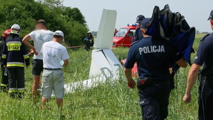Wypadek szybowca pod Ostrowem Wielkopolskim. Pilot nie żyje