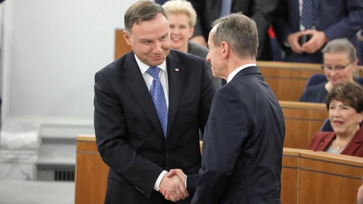 Prezydent o Senacie: wierzę, że dyskusje i spory będą prowadzone w dobrej atmosferze