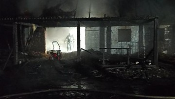 W pożarze domku letniskowego zginęli goście właściciela