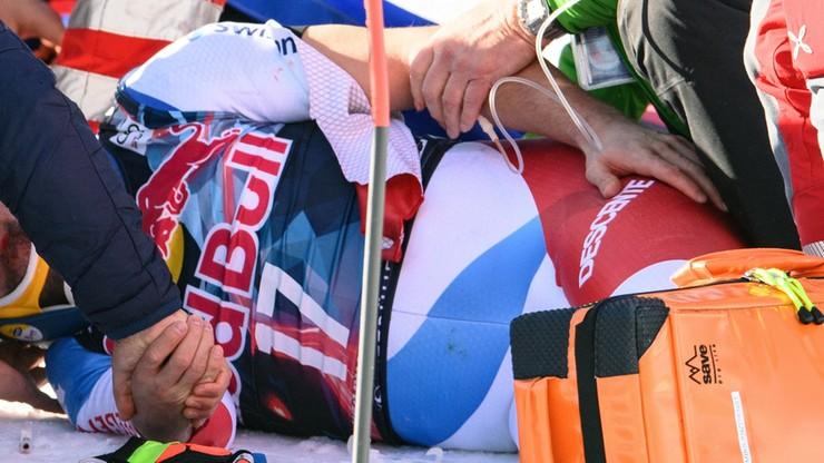 Dramatyczny wypadek podczas Pucharu Świata. Szwajcar uderzył w stok z prędkością 140 km/h