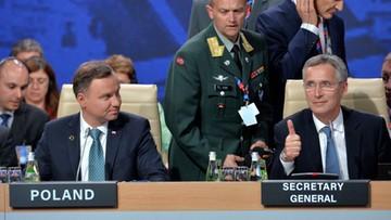 Stoltenberg kończy szczyt i dziękuje prezydentowi Dudzie za jego organizację