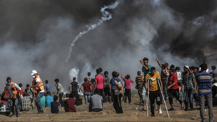 Czterech zabitych, ponad 400 rannych. Izraelskie wojsko ostrzelało Strefę Gazy