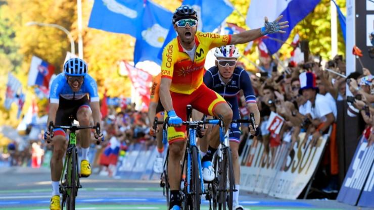 MŚ w kolarstwie: Valverde zdobył tęczową koszulkę