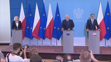 """""""Zmiany w ustawach o sądownictwie niewystarczające"""". Timmermans przedstawił efekty wizyty w Polsce"""