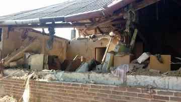 Wybuch gazu w domu jednorodzinnym. Budynek nadaje się do rozbiórki