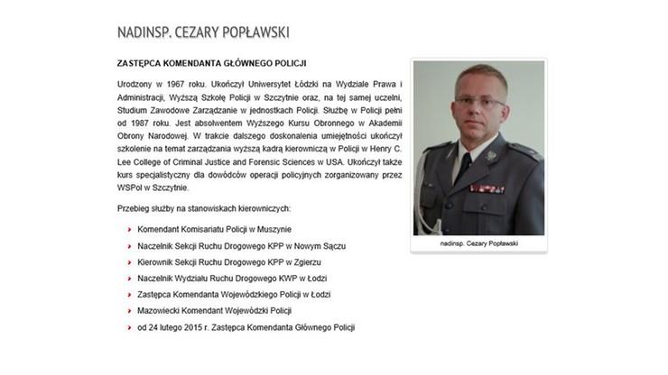 """Zastępca szefa policji zrezygnował. """"Względy osobiste"""""""