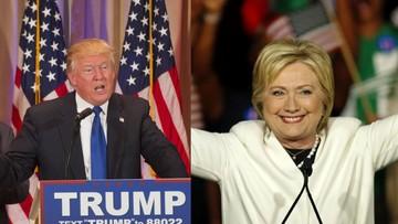 """Prawybory w USA: Clinton i Trump wygrywają w """"Superwtorek"""""""
