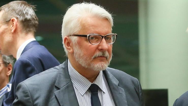 Szef MSZ: nie wiem, jakie są plany Tuska, wypadałoby, żeby się kontaktował