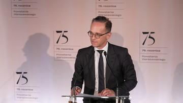 Szef MSZ Niemiec: proszę naród polski o przebaczenie. Czaputowicz: szkody nie zostały naprawione