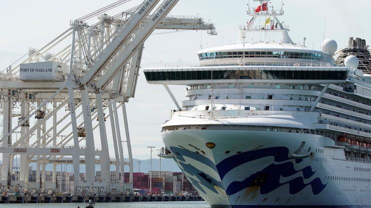 """Statek z pasażerami zakażonymi koronawirusem. """"Grand Princess"""" zawinął do portu w Oakland"""