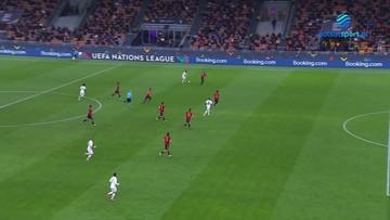 Liga Narodów: Hiszpania - Francja 1:2. Gol Kyliana Mbappe