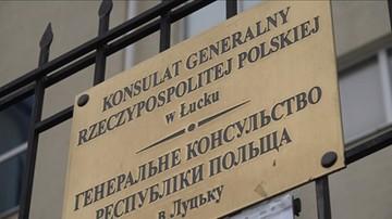 """""""Precz z polskimi szowinistami"""". Nacjonaliści pikietowali przed konsulatem RP w Łucku"""