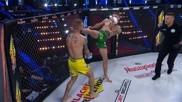 Babilon MMA 21: Co za nokaut! Potężne kopnięcie zakończyło walkę (WIDEO)