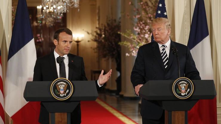 Macron w Białym Domu. Trump: umowa nuklearna z Iranem to katastrofa