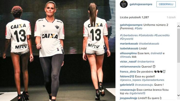 Brazylijskie modelki pokazały nowe stroje Atletico Mineiro