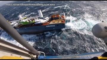 Statek bez załogi dryfuje na autopilocie. Jednostka może zatonąć