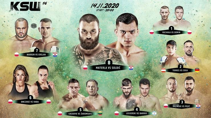 KSW 56: Ceremonia ważenia w Polsacie Sport Fight i na Polsatsport.pl