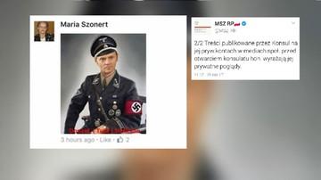 Zdjęcie Tuska w hitlerowskim mundurze. Jest reakcja MSZ na aktywność konsul honorowej RP w Ohio