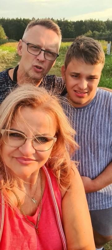 Pani Renata z mężem i synem Filipem