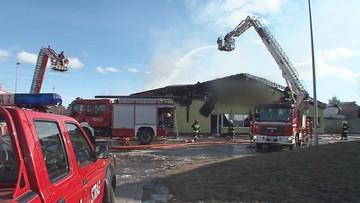 Pożar supermarketu na Podlasiu. Zawaliła się konstrukcja dachu