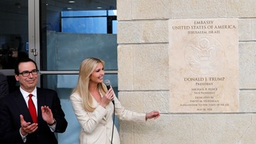 USA mimo sprzeciwu wielu krajów przeniosły ambasadę do Jerozolimy. Netanjahu: to historyczny moment