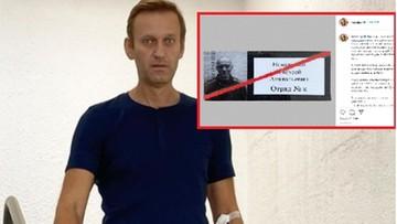 """Stan Nawalnego """"bliski krytycznego"""". Apel o pomoc lekarską dla opozycjonisty"""