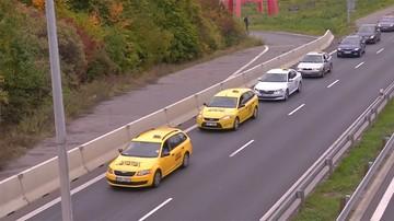 Czescy taksówkarze protestują przeciwko Uberowi