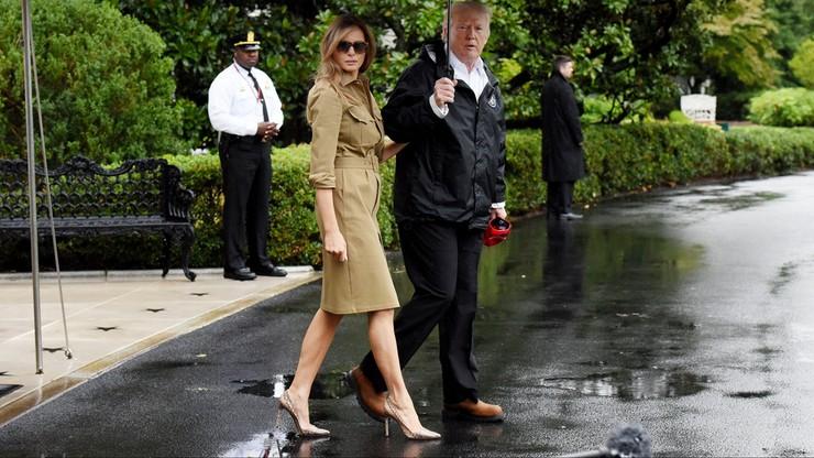 Wizyta Donalda Trumpa na terenach spustoszonych przez huragan Harvey