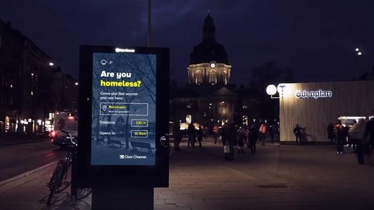 Sztokholm: bilbordy wskazują bezdomnym drogę do noclegowni