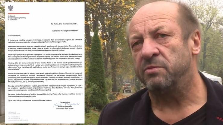 Preisner nie chce spotkań z polskimi władzami. Magierowski nie wygłosi więc laudacji na jego cześć