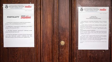 """Kraków: jedenasty dzień protestu nauczycieli z """"Solidarności"""""""