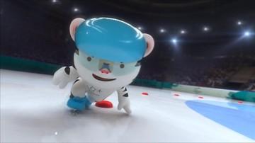 Biały tygrys w bobsleju i jako skoczek narciarski. Zobacz klip promujący zimowe IO w Pjongczangu