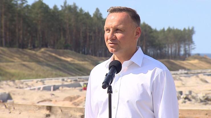 Duda: przekop Mierzei Wiślanej wzmacnia suwerenność Rzeczypospolitej