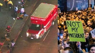 Protesty po wygranej Trumpa. Strzały i ranni w Seattle