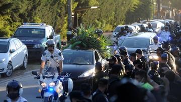 """Maradona pochowany w """"Ogrodzie Pokoju"""" (WIDEO)"""