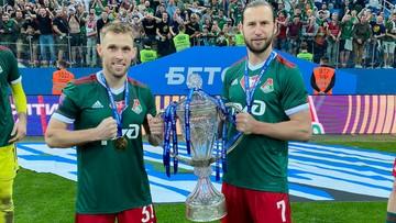 Grzegorz Krychowiak i Maciej Rybus z Pucharem Rosji