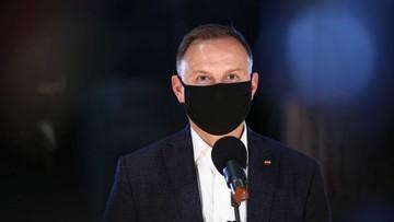 Prezydent: pandemia w Polsce jest coraz mniejsza. Mam nadzieję, że ją pokonamy