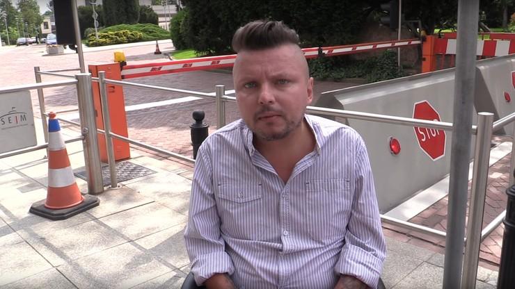 """Wrocławski rzecznik ds. niepełnosprawnych nie wpuszczony do Sejmu. """"Chcieliśmy wyrazić wsparcie"""""""