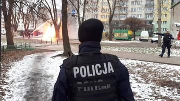 Pożar gazociągu w Łodzi. Jedna osoba ranna, kilkadziesiąt ewakuowanych