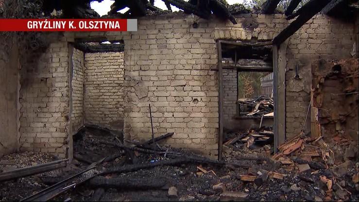 Dwie ofiary pożaru domu w Gryźlinach. Policja nie wyklucza podpalenia