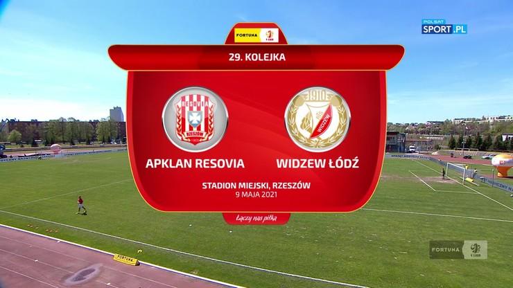 Fortuna 1 Liga: Resovia - Widzew 2:0. Skrót meczu