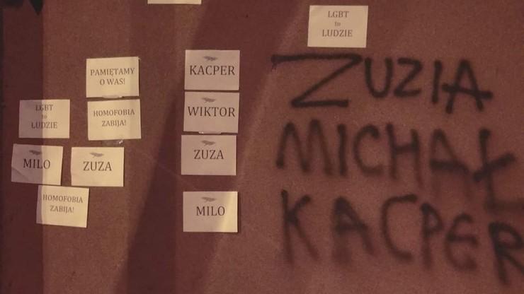 Imiona osób LGBT na murach krakowskiego kuratorium oświaty. Oświadczenie Barbary Nowak