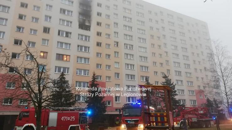 Pożar w bloku na Mazowszu. Ogień na siódmym piętrze