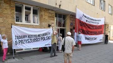 Obywatele RP pikietowali przed siedzibą władz krajowych Platformy Obywatelskiej