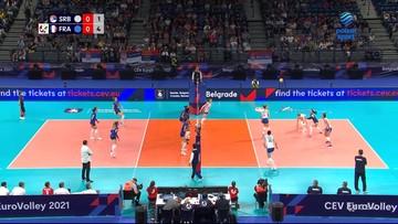Serbia - Francja 3:1. Skrót meczu